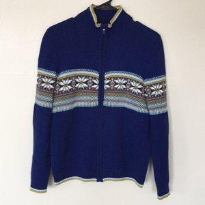 Calvin Klein Boys Fair Isle Zip Cardigan Sweater